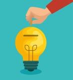 Crowdfunding savings concept icon. Illustration design Stock Image