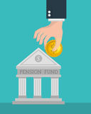 Crowdfunding savings concept icon. Illustration design Stock Photo