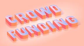 Crowdfunding teksta tytułu Isometric Wektorowy szablon ilustracja wektor