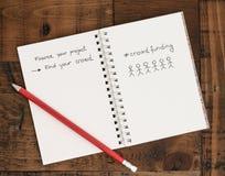 Crowdfunding - trovi la vostra folla! Immagini Stock