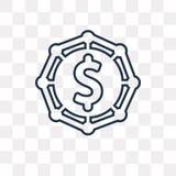 Crowdfunding wektorowa ikona odizolowywająca na przejrzystym tle, Lin ilustracji