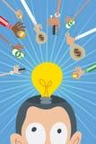 Crowdfunding y concepto del inversor del negocio ilustración del vector