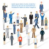 Crowding group of people Royalty Free Stock Photography