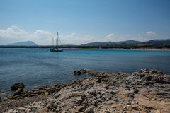 Crowdless beach in Sardinia, Italy Royalty Free Stock Images