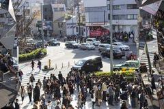 Crowdlystraat in Tokyo, Japan royalty-vrije stock afbeeldingen