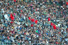 Crowds. At Harvest Crusade, in Anaheim, CA on August 7, 2010 royalty free stock photos