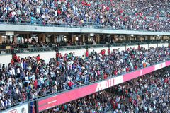 Crowds. At Harvest Crusade, in Anaheim, CA on August 7, 2010 royalty free stock photo