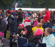 Crowds awaiting James Blunt Royalty Free Stock Images