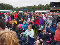 Crowds awaiting James Blunt Stock Images