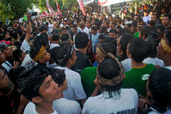 Crowds in Balinese festival Stock Photography