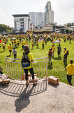 Crowds at Bersih 4.0 Rally in Kuching Royalty Free Stock Photos