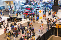 Crowds at the 2017 Chicago Auto Show Royalty Free Stock Photography