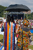 Crowds enjoy the African Oye music festival Stock Image