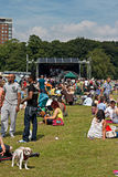 Crowds enjoy the African Oye music festival Stock Photos