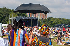 Crowds enjoy the African Oye music festival Stock Images