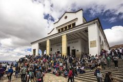 A beautiful day on top of Monserrate Stock Image