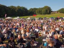 Crowds enjoying Royalty Free Stock Images