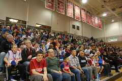 Crowds. Fans cheer on their Basketball team Royalty Free Stock Image