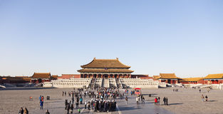 Crowds at the Forbidden City Royalty Free Stock Photo