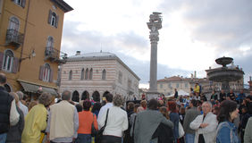Crowds at Friuli Doc, Udine Royalty Free Stock Photography