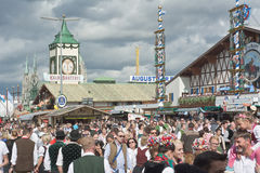 Crowds in Front of Hacker-Pschorr Tent Royalty Free Stock Images