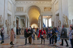 Crowds In The Vatican Museum Stock Image