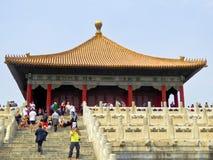 Crowds inside Beijing Forbidden City Stock Image