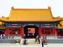 Crowds inside Beijing Forbidden City Royalty Free Stock Photography