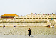 Crowds inside Beijing Forbidden City Royalty Free Stock Images