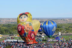 Crowds at the International Balloon Fiesta Stock Photo
