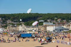 Crowds at Kite Festival Weston-super-Mare Somerset Royalty Free Stock Images