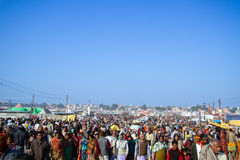 Crowds at the Kumbha Mela, India. Royalty Free Stock Photo