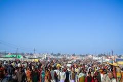 Crowds at the Kumbha Mela, India. Royalty Free Stock Photo