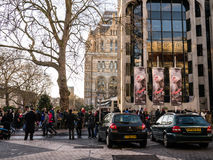 Crowds line up for admission to the Natural History Museum, London, England, UK, during Christmas week Royalty Free Stock Photo