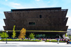 Crowds Lined Up Outside the National Museum of African American History. WASHINGTON, DC - JULY 12, 2017:  Crowds of people lined up outside of the National Stock Photo