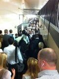 London Underground Queue. Queue for London Underground station Royalty Free Stock Image