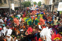 Crowds at Notting Hill Carnival. Photograph of the street parade and crowds at Notting Hill Carnival 2012 Stock Images