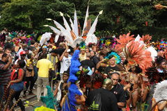 Crowds at Notting Hill Carnival Stock Image