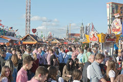 Crowds at the Octoberfest Stock Photography