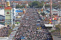 Crowds at Oktoberfest Stock Photography