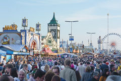 Crowds at the Oktoberfest Royalty Free Stock Photography