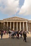 Crowds outside British Museum, London Royalty Free Stock Images