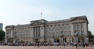 Crowds outside Buckingham Palace Royalty Free Stock Photo