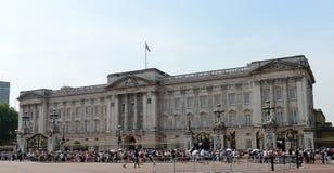 Crowds outside Buckingham Palace Royalty Free Stock Photo