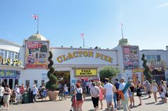 Crowds outside Clacton Pier Stock Photography