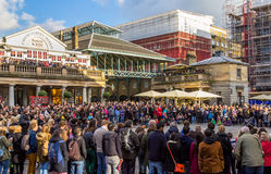 Crowds outside Covent Garden Market Stock Photography
