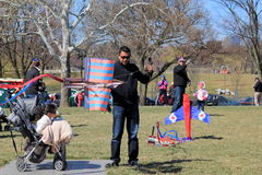 Crowds of people getting ready to enter their kites in competition, Kite Festival,Washington,DC,April,2015 Royalty Free Stock Photo