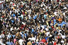 Crowds of people Royalty Free Stock Images