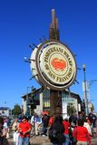 Fisherman`s Wharf in San Francisco, California royalty free stock image