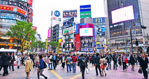 Crowds of people at Shibuya Stock Photos